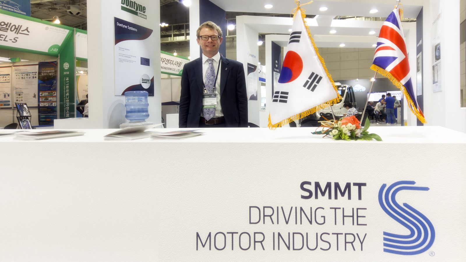 Matt Smith of SMMT at Green Car Korea Exhibition