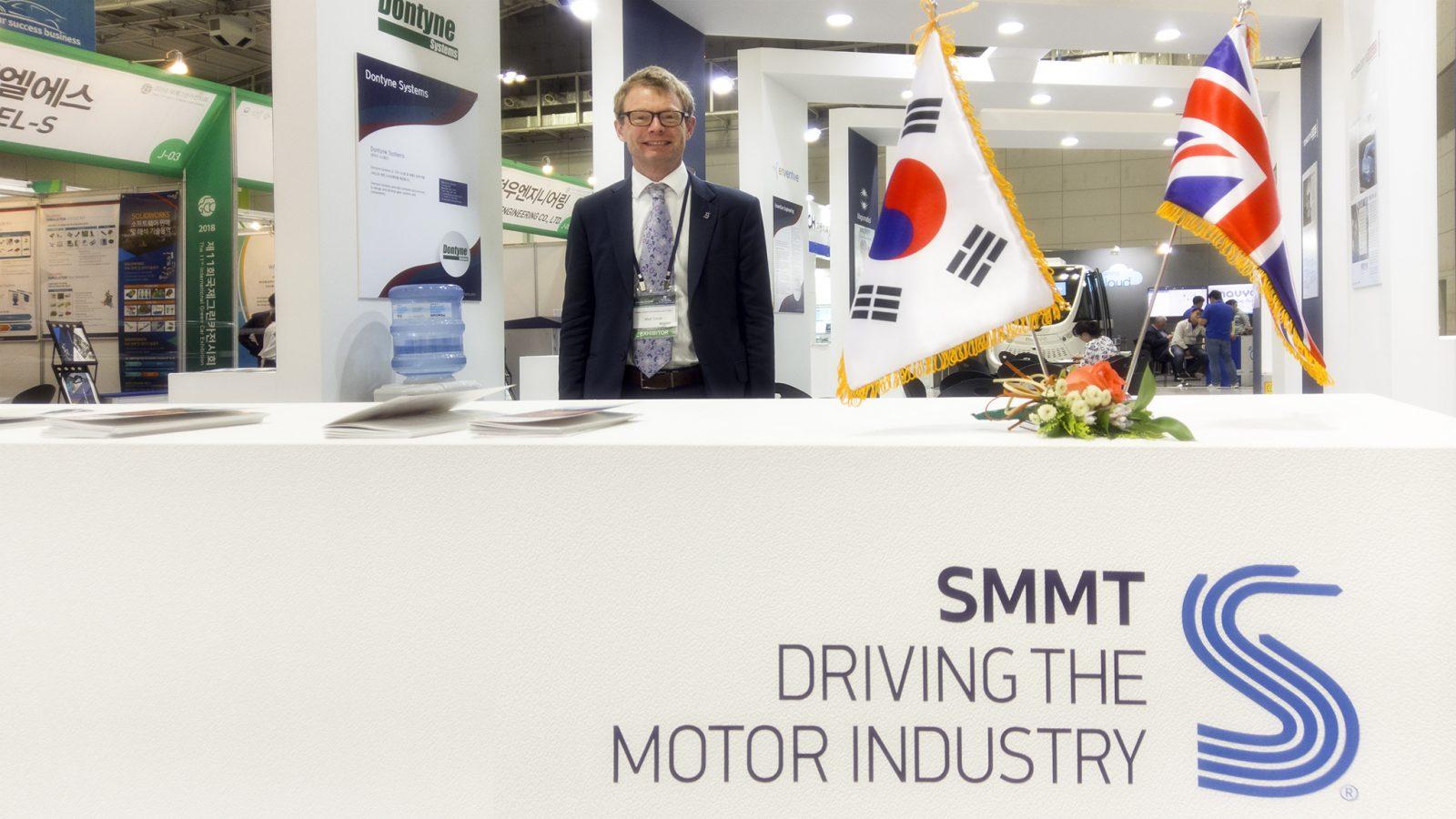 Matt Smith of SMMT at Green Car Korea Exhibition